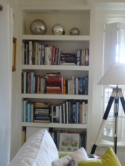 Bookshelves in our living room