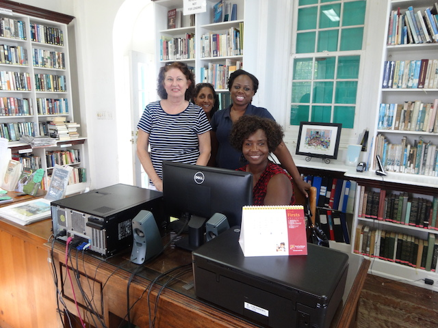 The staff at Haynes Library