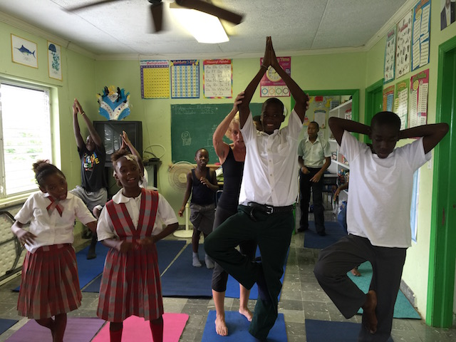 Exceptional Learners' yoga class
