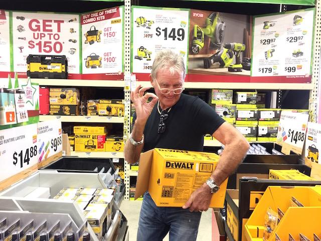 Happy Bob in Home Depot