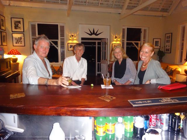 With Clemens von Merveldt, Bob Colman and Nancy von Merveldt at Strawberry Hill Jamaica