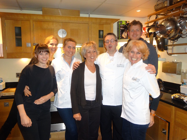best friend Jane Bower at the cooking school of Raymond Blanc in Oxford
