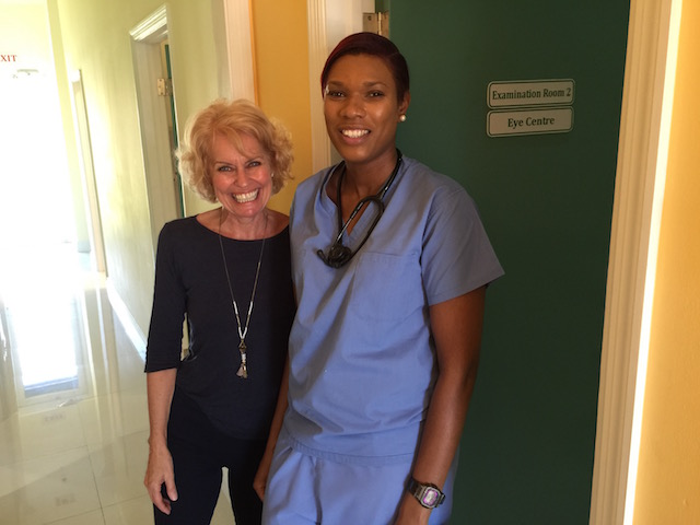 Me being taken care of as well by the lovely Dr Italia Sands