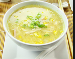 Chicken and sweetcorn soup - yes please.....