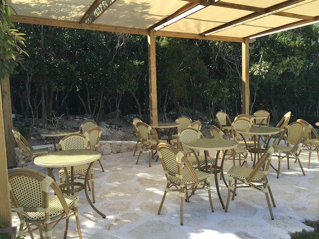 The shaded terrace area where you can enjoy a breakfast or lunch.....