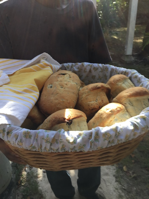 One of the speciality breads - I think this one is olive .....