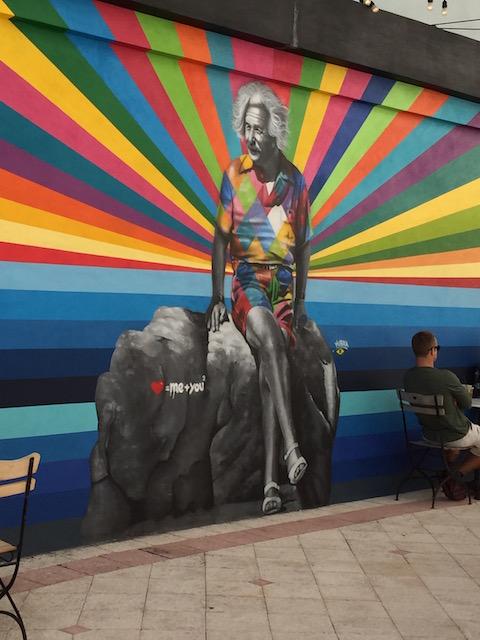 Mural in West Palm Beach - yes it is Einstein !