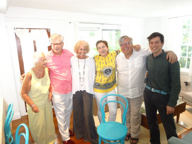 The famous Oliver Kita sandwiched between my Mum and me ! with friends.....