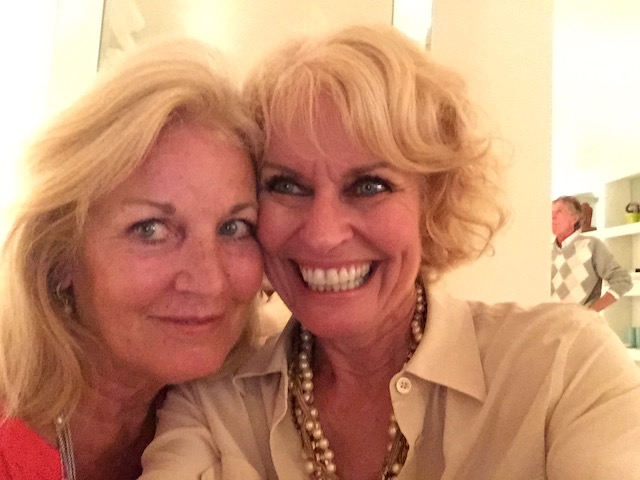 Gratitude for good friends - here with the lovely Nancy von Merveldt