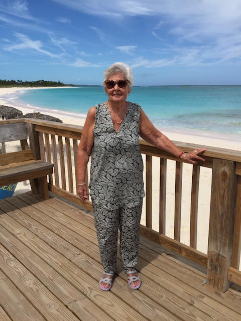 My lovely Mum - gratitude that the outfit I picked up for her in the US fits a treat and gratitude that she still enjoys a good lunch at Tippy's. Plus the view !!!!