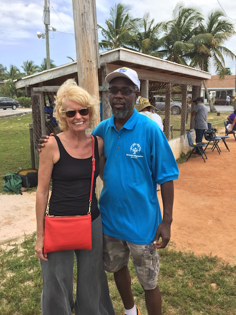 Me with the lovely Mr Gilbert Williams from the Special Olympics Bahamas organization