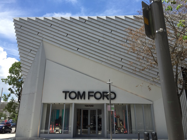 Great architectural design at the Tom Ford Store