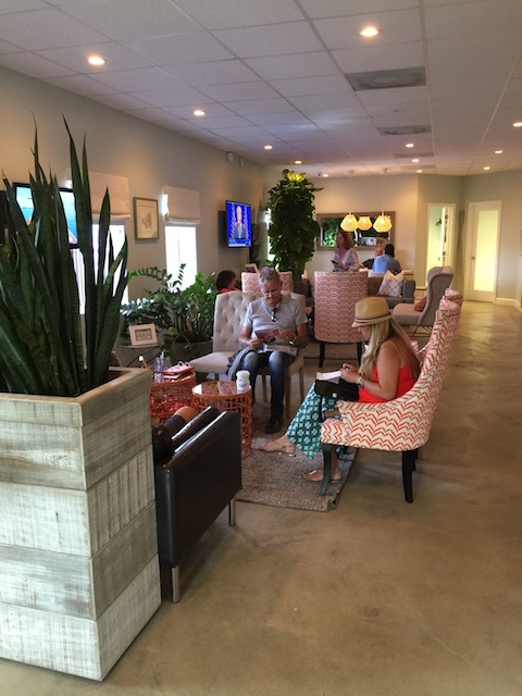 The waiting lounge at Watermakers Air