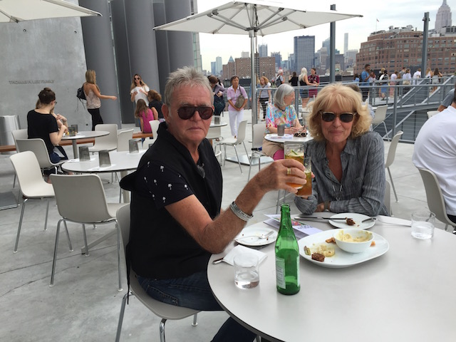 Enjoying a very light lunch at the Whitney