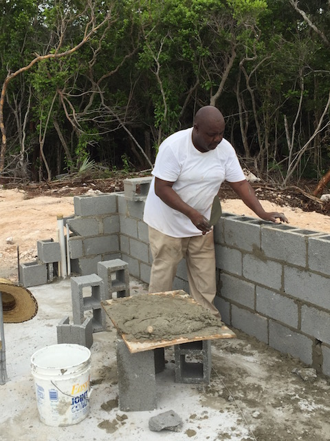 Getting the walls up at Turtle Bay