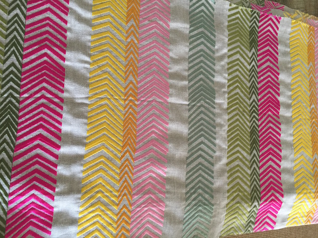 Gorgeous Kit Kemp embroidered fabric........
