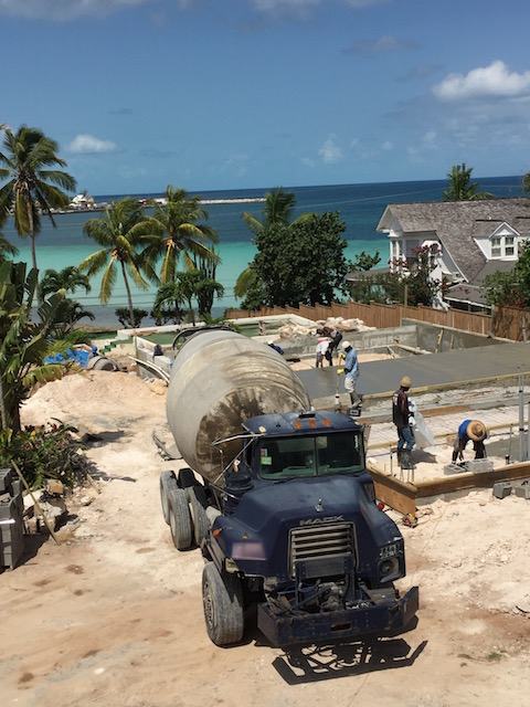 Pouring the slab for the Modern House