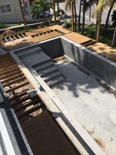 The pool for Cornerwall House