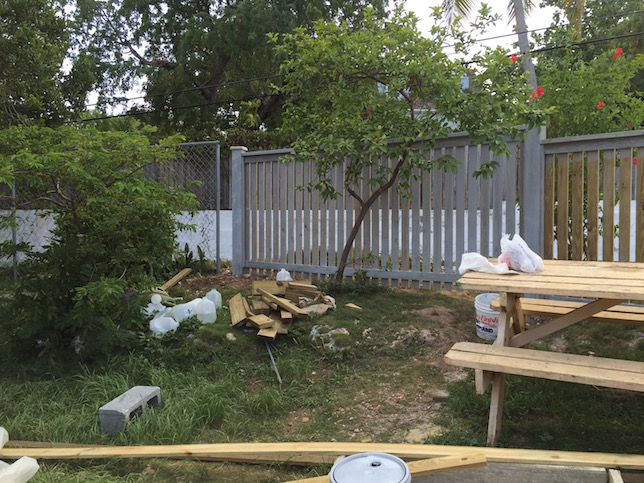 Staining the fence a nice light grey