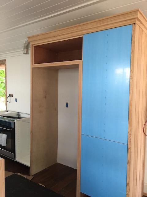 Lovely housing for the fridge.....