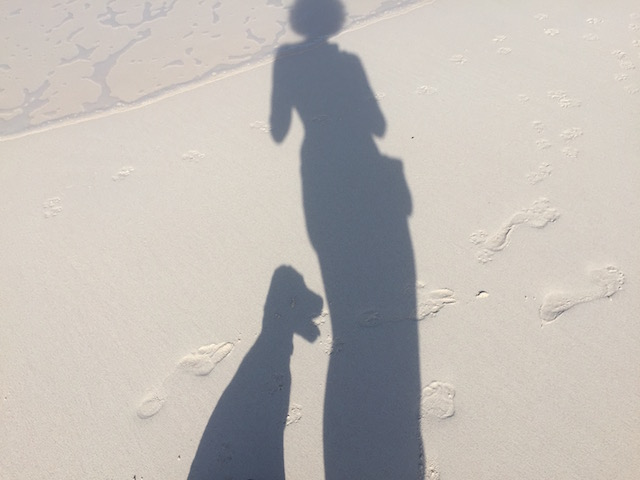 Been cooped up too long and started taking strange shadow pictures on the beach !