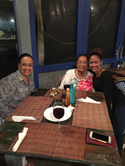 The famous Norma Johnson from Norma's Gift Store celebrating her 84th birthday at Tippy's with her daughter Tracey and grand-daughter Kache