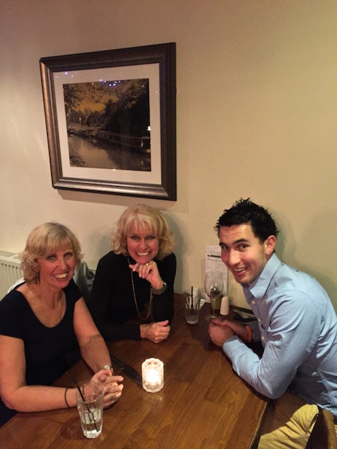 Birthday meal with my sister Jane and her son Sam