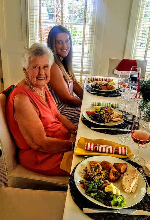 Mum and Alysse ready to tuck in.....
