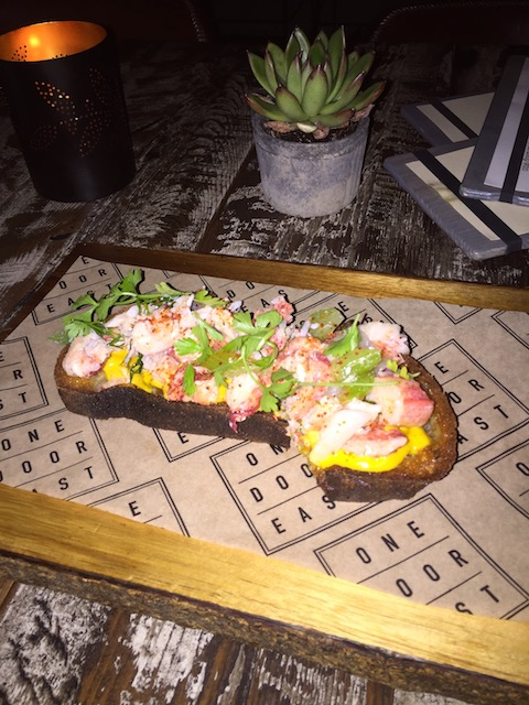Gorgeous lobster bruschetta at One Door East.....