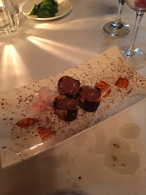 "Yummy chocolate desert with Grand Marnier 'ice"" at Timpano"