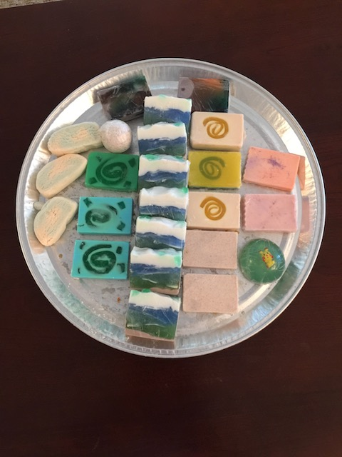 A great selection of soaps made by Menishca Barr