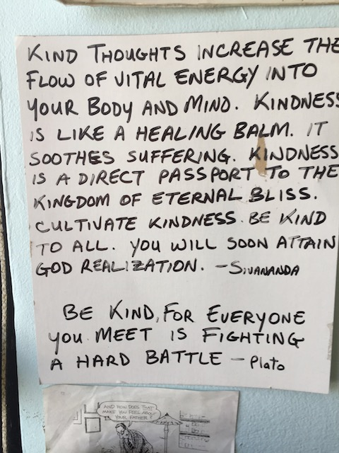 Jesse Roger's clinic is covered in messages like this - I love them......