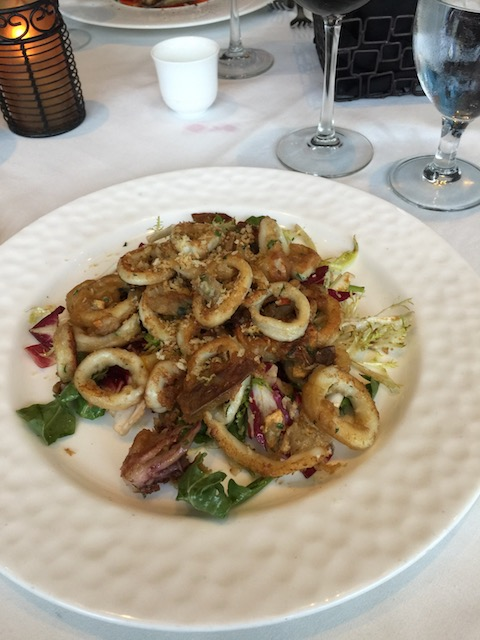 Can I tell you fabulous this was at Valentino's ? Calamari and artichoke - totally divine !