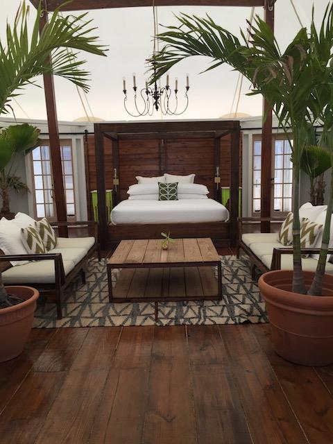 Beautiful elegant bedrooms in the tents