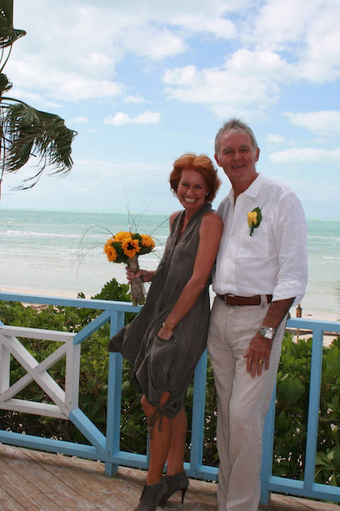 Fabulous sunflowers when we renewed our wedding vows in December 2009