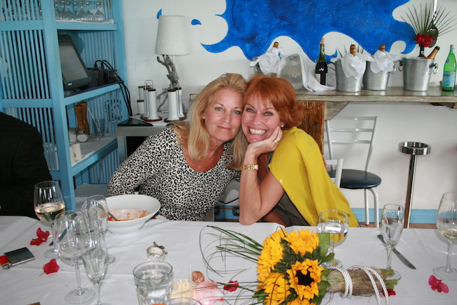 A lovely picture - full of happiness and smiles with dear friend Nancy Breedon von Merveldt