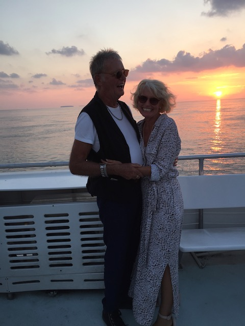 Bob and I on the sunset cruise the night before the wedding