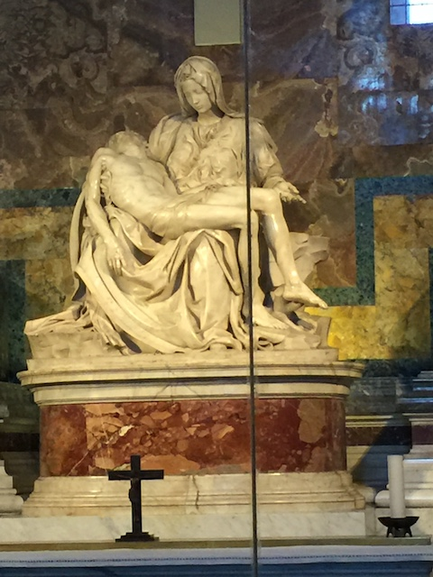 This incredible piece by Michaelangelo - or Mike as we now call him - was sculpted by him at the age of 22 years old !!! It took him one year - and is in St Peter's Basilica