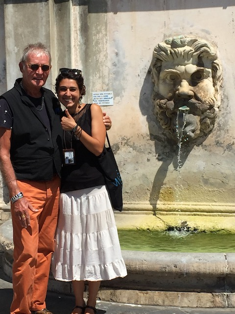 Bob with our perfect guide and new friend - Lorena Capogreco in the Vatican Museum grounds