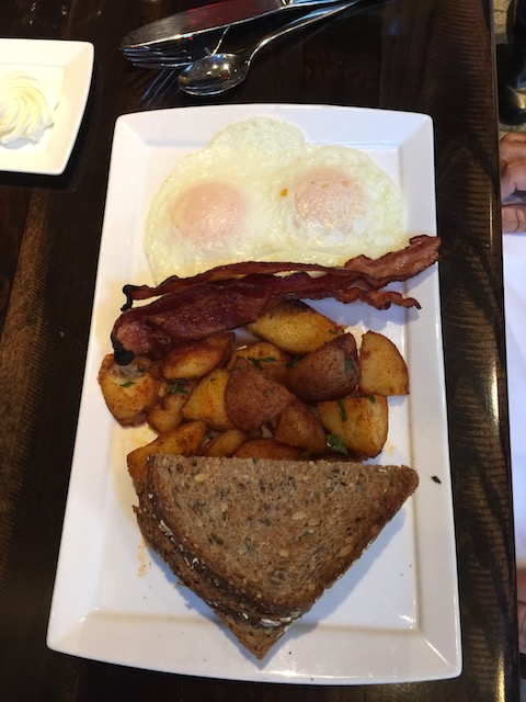 Fabulous breakfast for Bob in Philadelphia