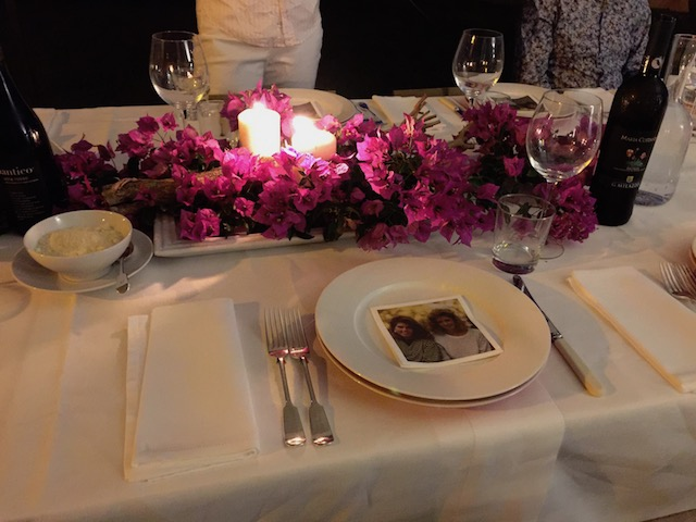 Another beautiful table setting at the villa we stayed at