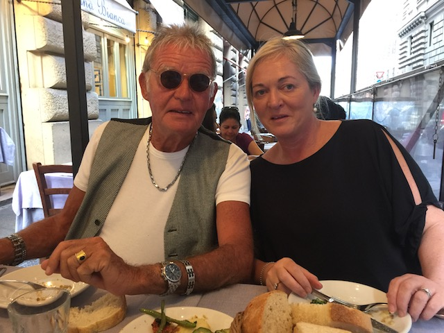 Bob and his lovely daughter Sami in Roma.....