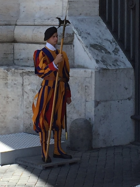 Just had to find a place to put this picture of the Swiss Papal Guard at the Vatican
