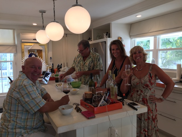 From left to right - Larry, and Dan the star chefs, Katy and sister Jane.....