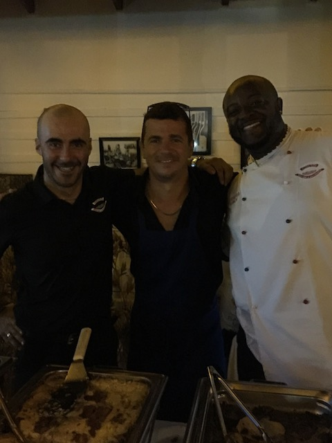 Front of house Massimo, owner Manfredi Mancini and chef - so sorry I didn't get his name .....