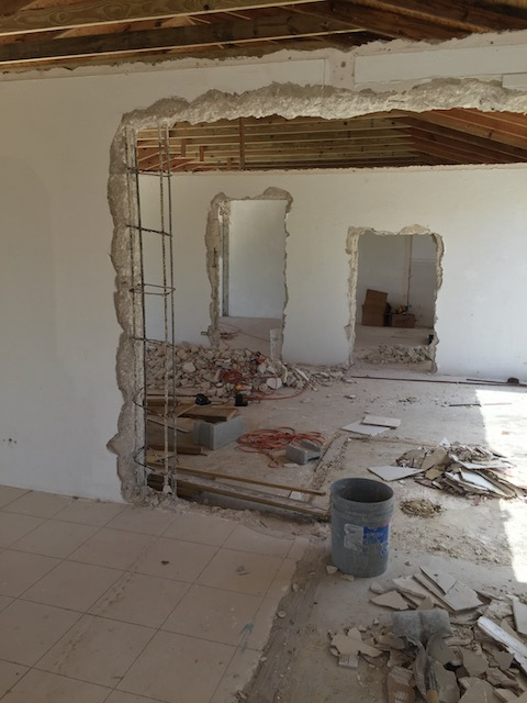 The 2 bedroom units - 3 rooms knocked through - a bedroom each side and the living room in the middle