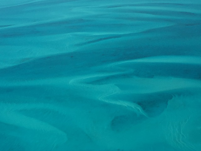 Amazing view of the water in the Exuma Sound....