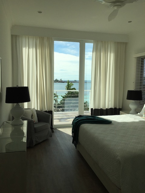 One of the bedrooms at The Modern House, Harbourside