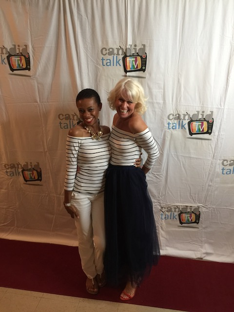 On the red carpet ! This lovely young presenter and I were wearing exactly the same top ! Great taste at H & M !