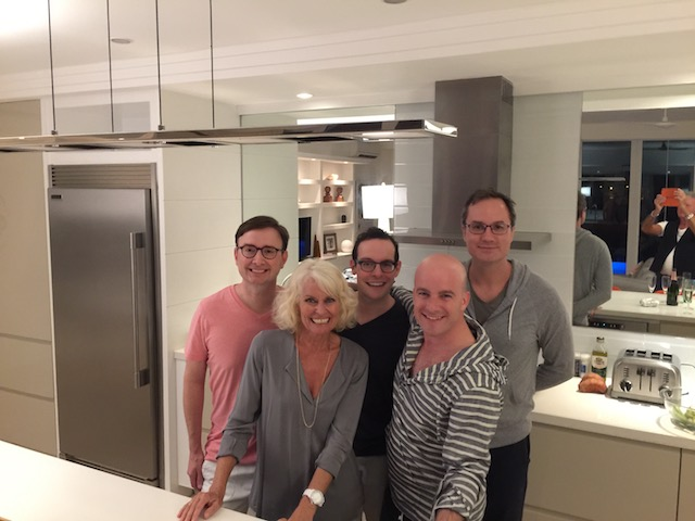 Our first guests staying at the Modern House - they loved it ! Thanks to Brian, Stephen, Nathan and Richard for being the perfect guests.....